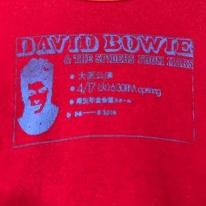 David Bowie Shirt baseball tee orange & red